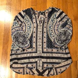 Lucky brand button down tunic size small